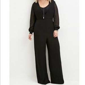 Forever 21 Chiffon Wide Leg Jumpsuit NWT Size 1X